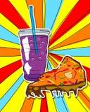 Pop art junk food royalty free illustration