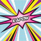 Pop Art KAPOW Royalty Free Stock Photo