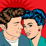 Pop Art KIssing Couple Stock Image