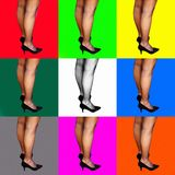 Pop Art Legs. Digital pop art for background or hang in the wall stock photo