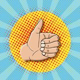 Pop art like sign gesture Stock Photography