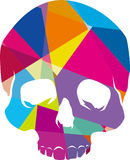 Pop-art like skull design Stock Photos