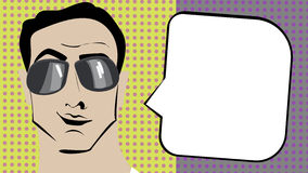 Pop art man. Royalty Free Stock Image