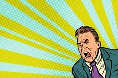 Pop art man shouting. Pop art retro vector illustration royalty free illustration