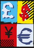 Pop Art Money stock illustrationer