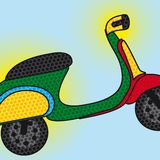 Pop art motorbike Royalty Free Stock Images