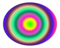 Pop Art Multicolor Concentric Gradient B Stock Photography
