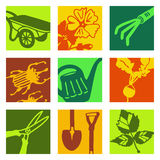 Pop art objects - gardening Royalty Free Stock Images