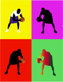 Pop Art Pascketball Player Design Royalty Free Stock Photos