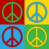 Pop art peace symbol icons Stock Photos
