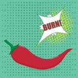 Pop art pepper Royalty Free Stock Image