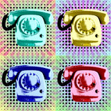 Pop Art Phone Poster Royalty-vrije Stock Afbeeldingen