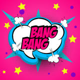 Pop art pink comment bang Stock Photo