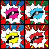 Pop art pistol Royalty Free Stock Photo