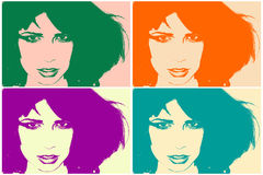 Pop art portrait Royalty Free Stock Image