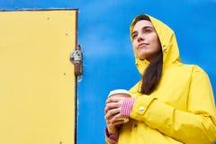 Pop Art Portrait of Modern Teenager stock photos
