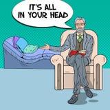 Pop Art Psychologist Welcomes to Visit Stock Image