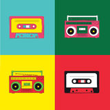 Pop Art Radio Cassette Royalty Free Stock Photos