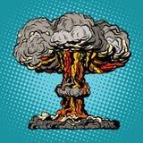 Pop art radioativo do cogumelo da explosão nuclear ilustração royalty free