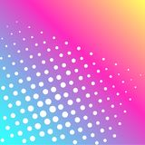 Pop art raster. Background of a color rainbow and white dots. Pop art raster illustration. Background of a color rainbow and white dots stock illustration