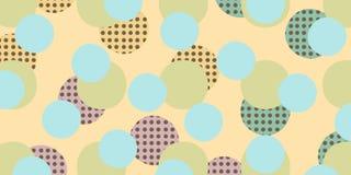 Pop art retro circles background Vector Illustration