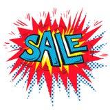 Pop art retro comic Sale speech bubble explosion Royalty Free Stock Images