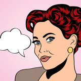 Pop art retro woman in comics style Royalty Free Stock Image