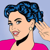 Pop art retro woman in comics style Royalty Free Stock Images