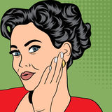 Pop art retro woman in comics style Royalty Free Stock Photo