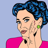 Pop art retro woman in comics style Royalty Free Stock Photography
