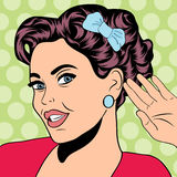 Pop art retro woman in comics style Stock Image