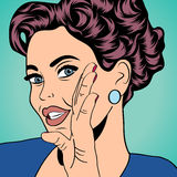 Pop art retro woman in comics style Royalty Free Stock Photos