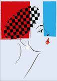 Pop Art  Retro Woman Royalty Free Stock Photos