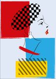 Pop Art  Retro Woman Stock Image