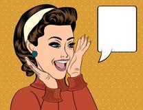 Pop art retro women in comics style that gossip vector illustration