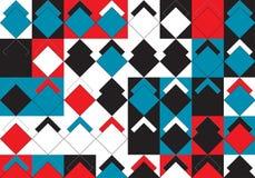 Pop Art Rhombus Pattern stock illustrationer