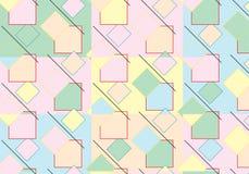 Pop Art Rhombus Pattern royaltyfri illustrationer