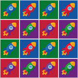 Pop-Art Rockets Royalty Free Stock Image