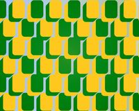Pop Art Rounded Square Blocks Pattern Green Yellow Royalty Free Stock Images