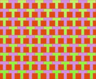 Pop Art Rows of Ts Pattern Green Violet Red Stock Photos