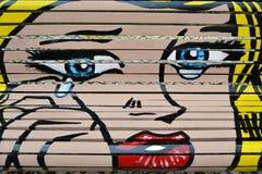 Pop art Roy Lichtenstein inspired Stock Images