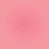 Pop Art Salmon Pink Dots Comic Background Vector Template Design Royalty Free Stock Images