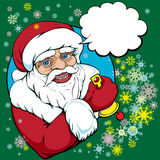 Pop art santa Stock Photo