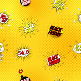 Pop art seamless comic sale discount vector illustration Royalty Free Stock Images