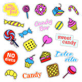 Pop art set with fashion patch badges. Stock Photography