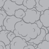 Pop art smoke seamless vector pattern grey Stock Image