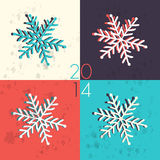 Pop art snowflake illustration Stock Photography