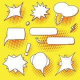 Pop art speech bubbles set Stock Images