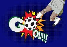 Pop-art sport football. Soccer design vector illustration