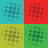 Pop Art Squares Background Vector Template Royalty-vrije Stock Afbeeldingen